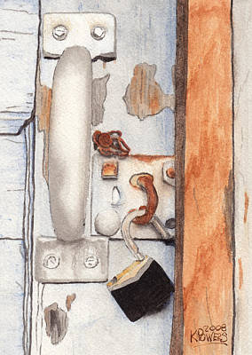 Painting - Garage Lock Number Three by Ken Powers