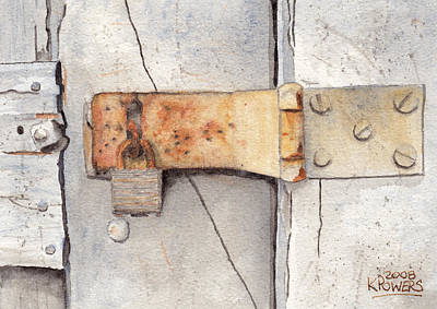 Painting - Garage Lock Number Two by Ken Powers
