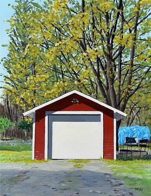 Michael Ward Painting - Garage by Michael Ward