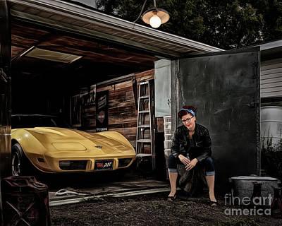 Garage Portrait Art Print by Brad Allen Fine Art