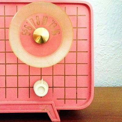 Retro Wall Art - Photograph - Garage Sale Find...a 60s Pink Radio! by Blenda Studio