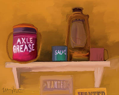 Painting - Garage Shelf 01 by Wally Hampton