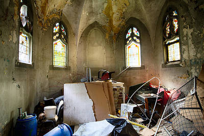 Mess Photograph - Garbage In Old Abandoned Church by Dirk Ercken