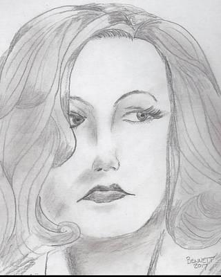 Drawing - Garbo by John Bennett