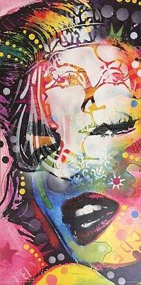 People Mixed Media - Garbo On Monroe Modified Print by Dean Russo