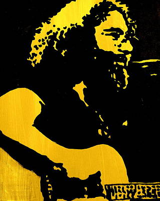 Jerry Garcia Painting - Garcia by Gayland Morris