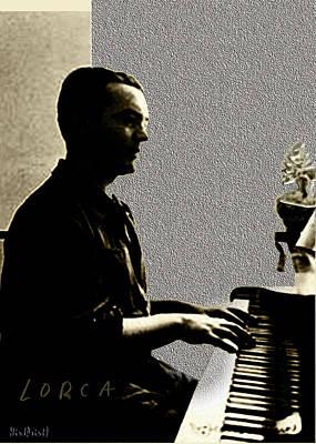 Digital Art - Garcia Lorca At Piano by Asok Mukhopadhyay