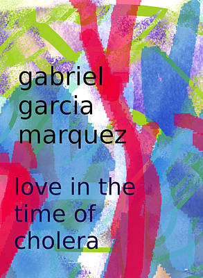 South American Painting - Garcia Marquez Poster by Paul Sutcliffe