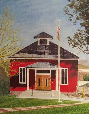 Painting - Garcia Schoolhouse, Wickenburg, Az by Dianne Scheerer Gibson