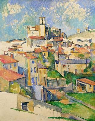 Travel Pics Royalty-Free and Rights-Managed Images - Gardanne by Paul Cezanne by Paul Cezanne