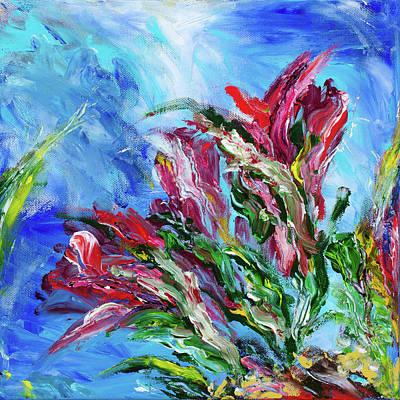 Blue Painting - Garden 2 by Brad Wieland