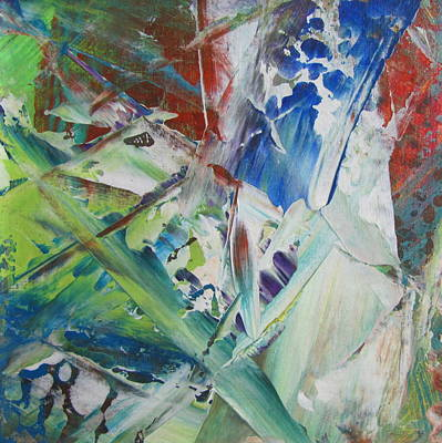 Painting - Garden Abstract 1 by Anita Burgermeister