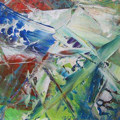 Painting - Garden Abstract 2 by Anita Burgermeister
