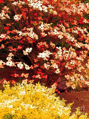 Garden Scene Mixed Media - Garden Abstract 2 by Mike Nellums