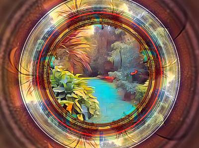 Digital Art - Garden Abstract by Nancy Pauling