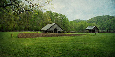 Photograph - Garden And Barn by Sandy Keeton