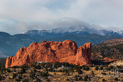 Photograph - Garden And Stormy Peak by Steve Krull