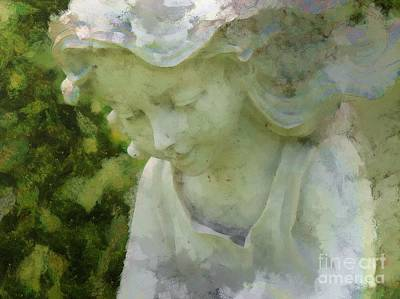 Digital Art - Garden Angel 2015 by Kathryn Strick