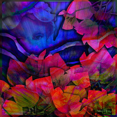 Digital Art - Garden Angel by Barbara Berney