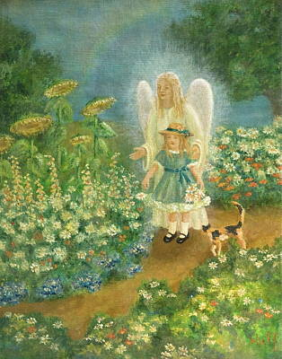 Painting - Garden Angel by Bernadette Wulf