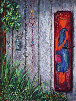 Painting - Garden Angel by Diana Wade