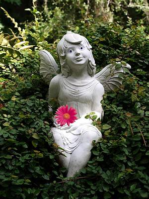 Garden Angel Art Print by Judy  Waller