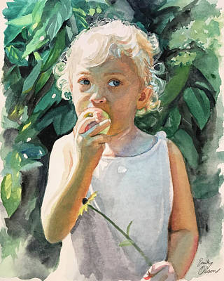 Painting - Garden Apple by Emily Olson