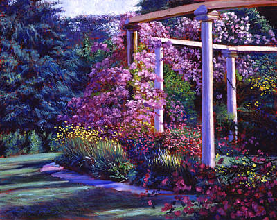 Vines Painting - Garden Arbor by David Lloyd Glover