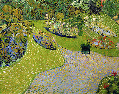Painting - Garden At Auvers by Vincent van Gogh