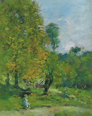 Pathway Painting - Garden At Fervaques by Eugene Louis Boudin