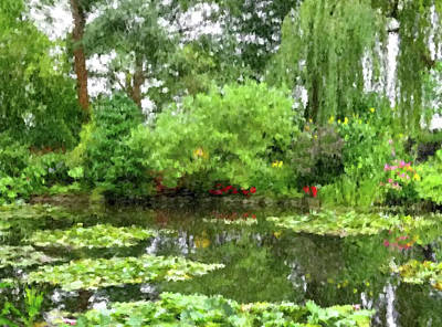 Painting - Garden At Giverney by Gary Grayson