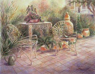 Garden At Linwood  Art Print
