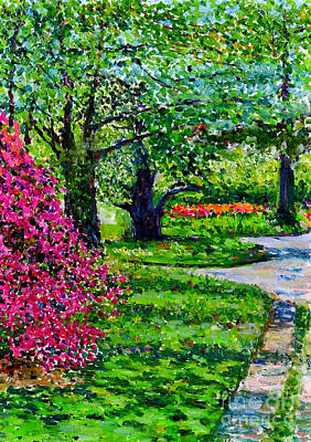 Nature Center Painting - Garden At Snug Harbor by Anthony Butera