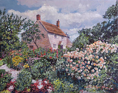 Painting - Garden At The Manor House by David Lloyd Glover