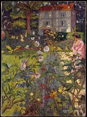 Painting - Garden At Vaucresson by Celestial Images