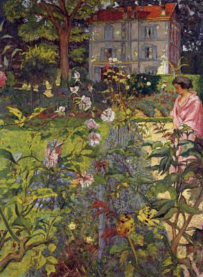 Woman Portrait Painting - Garden At Vaucresson by Edouard Vuillard