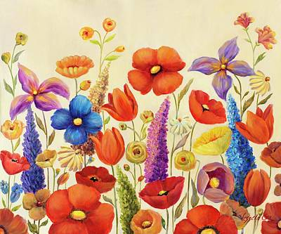 Painting - Garden  B by Vessela Kolibarova