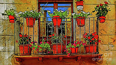 Photograph - Garden Balcony 19818 by Ray Shrewsberry