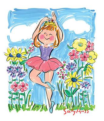 Wall Art - Painting - Garden Ballerina by Sally Huss
