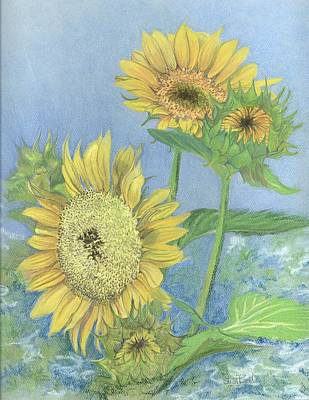Garden Beauties Art Print by Lisa Bell