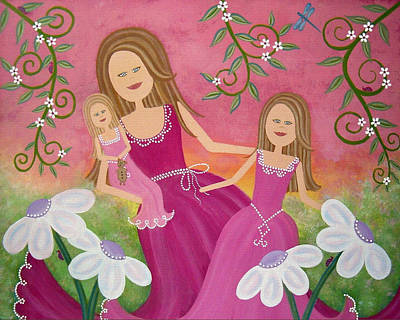 Mother Painting - Garden Belles by Samantha Shirley