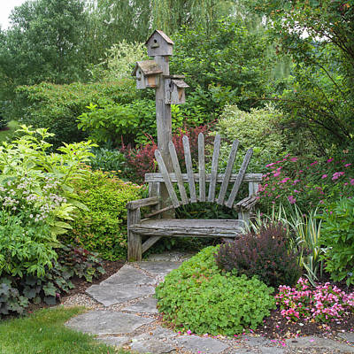Photograph - Garden Bench by Adam Gibbs