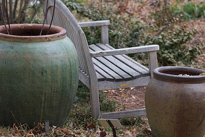 Photograph - Garden Bench by Connie Kogler