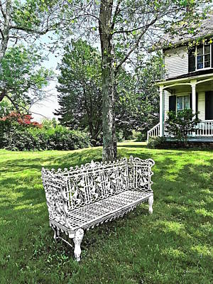 Photograph - Garden Bench by Susan Savad