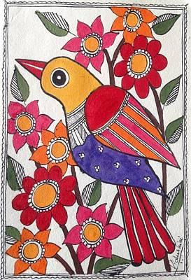 Painting - Garden Bird by Vidushini Prasad