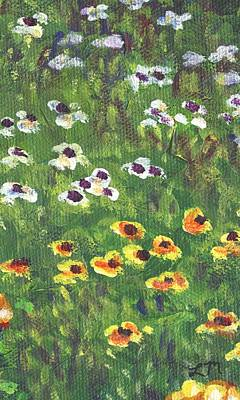 Landscape Painting - Garden Bloom Part C by Linda Mears