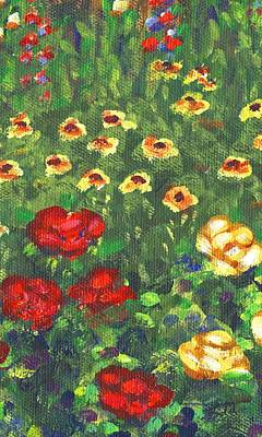 Impressionistic Landscape Painting - Garden Bloom Two Part B by Linda Mears