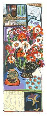 Ap Painting - Garden Bouquet - Signed - Artist's Proof by Bracha Guy