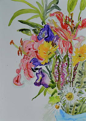 Art Print featuring the painting Garden Bouquet by Beverley Harper Tinsley