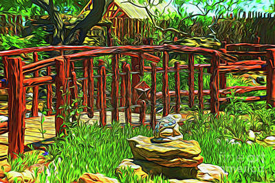 Photograph - Garden Bridge 14218 by Ray Shrewsberry